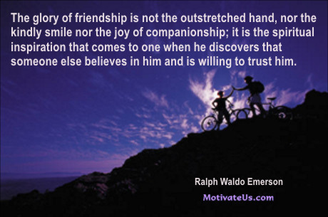 Delicieux An Inspiritional Picture Of Two Bikers On A Hillside With The Quote: The  Glory Of
