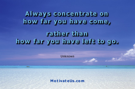 A Motivational Picture Of Sand And The Ocean With Quote Always Concentrate On How
